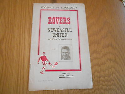 Doncaster Rovers V Newcastle United  Floodlit  Friendly  18/10/1954