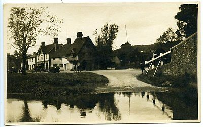 EYNSFORD, Kent, Real Photo 1934, View from Bridge to Village