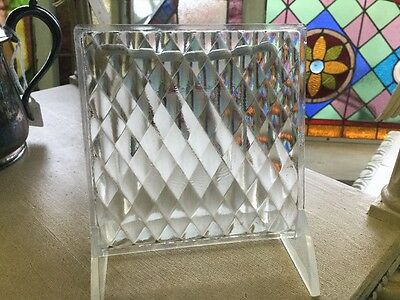 Luxfer Prism Glass Tile circa 1910 Glass Quilted Design Light Gathering Tile