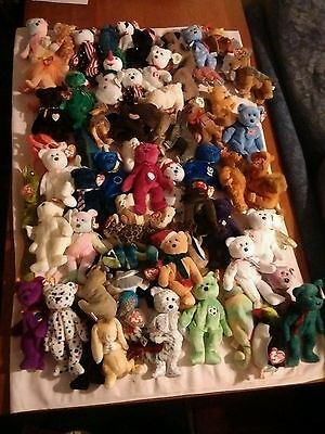 Joblot / Collection of 60 ty Beanie Babies - All tagged