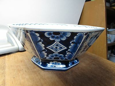 Super Vintage Delft Pottery Holland Hand Painted Bowl