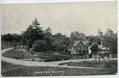 GOODEN GREEN, Sevenoaks, Kent, Posted to Sweden 1906, Gooden Green Single Circle
