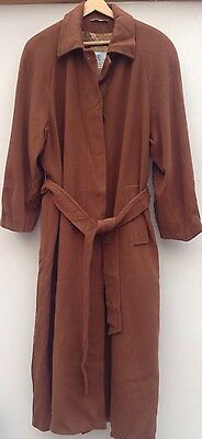 Ladies Vintage Aquascutum Brown Wool/cashmere Belted Coat. Size 12/14