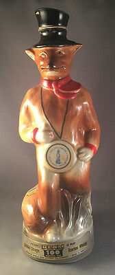 Vintage Jim Beam Whiskey Decanter - 100 Month - Fox In A Tophat