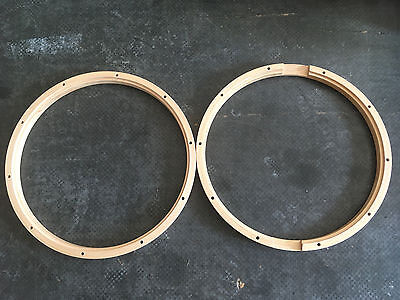 "Gibraltar 14"" 10 Hole Snare Wood Hoop Pair"