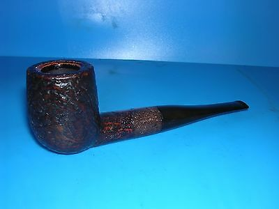 Smoking Pipe Chap Meerschaum Lined Rustic Straight Billiard Estate Pipe VGC