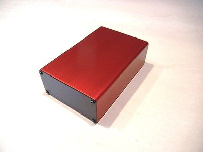 "Aluminum Project box, Enclosure 2""X4""X5""  Model # GK4-5 RED"