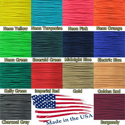 "275 LB Paracord 3/32"" Braiding Rope 5 Strand Nylon Core for Crafts Outdoors"