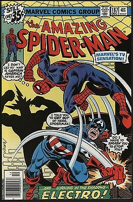 Amazing Spider-Man #187 Vs Captain America. White Pages Glossy Copy Starlin Art