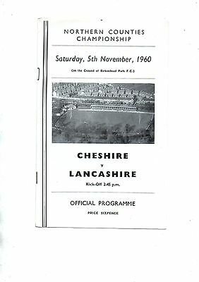 CHESHIRE v LANCASHIRE 1960/1 Northern Counties Championship.