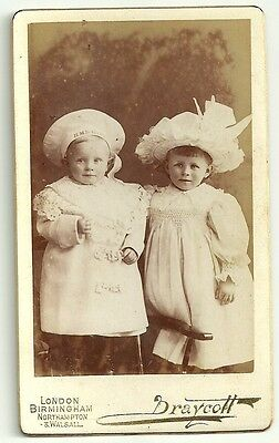 Victorian cdv photo  two small children London & Midlands  Photographer