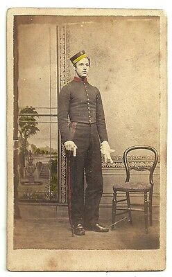 Victorian cdv photo young man E Brindley uniform bellboy unstated photographer