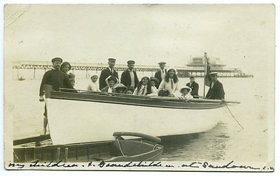 ISLE OF WIGHT, Real Photo, SAILING BOAT, SANDOWN, by the PIER, Posted 1913