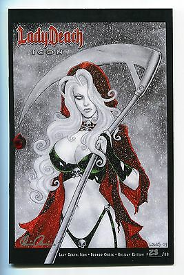 Lady Death Icon #1 BooKooComix Jeweled Holiday Edition Variant Scott Lewis Cover
