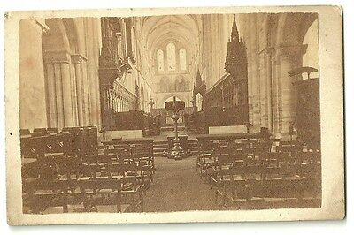 Victorian cdv  photo Chichester Cathedral Sussex The Choir london photographer