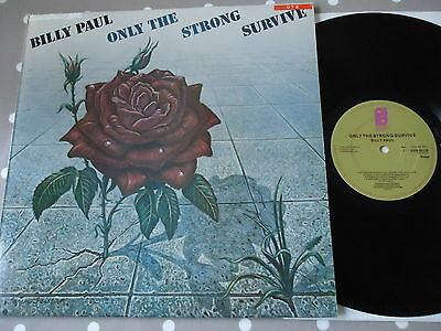 Nm 1977 Billy Paul Only The Strong Survive Orig Uk Vinyl Lp A1 Funk Soul Disco