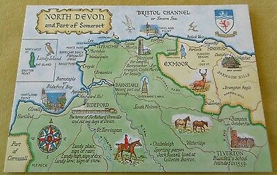 Map of North Devon and part of Somerset