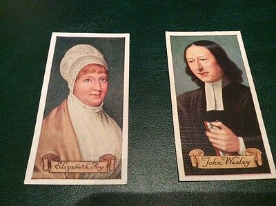 cigarette cards CARRERAS CELEBRITIES OF BRITISH HISTORY #40 and #23