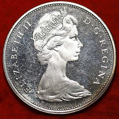 Uncirculated 1965 Silver Canada $1 Dollar Foreign Coin Free S/H