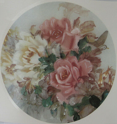 Ceramic Waterslide Decal  190mm  ( Plate Size)   AUTUMN ROSE