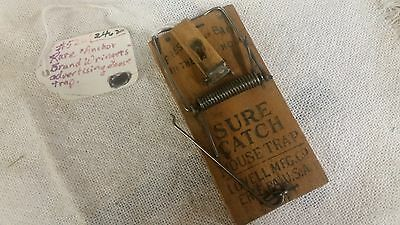 Vintage Anchor Brand Clothes Wringers Advertising Wooden Rat/ Mouse Trap #122