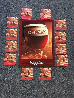 Chimay Trappiste Advertising Sign with 12 Coasters