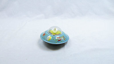CZECHOSLOVAK VINTAGE SPACE TOY TIN FRICTION FLYING SAUCER MADE BY OMNIA 1960's