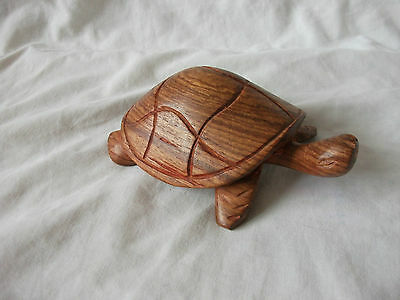 Sweet Carved Wooden Tortoise,turtle,animal,wild,pet,sea,christmas Gift,collectab