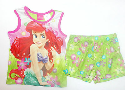 Disney Little Mermaid Ariel Girls 2 Piece Shorts Pajama Set Size XSmall 4-5 NWT