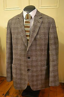 Brown Checked Vintage Look Jacket