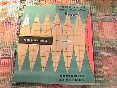 1960S Northwest Airlines System Route Map !!!