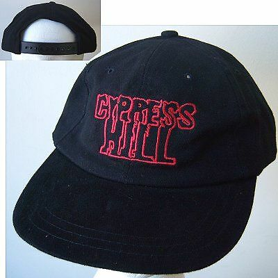Cypress Hill! Red Embroidered Logo Blk Baseball Hat New