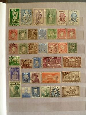 Ireland old stamp collection, several valuables.
