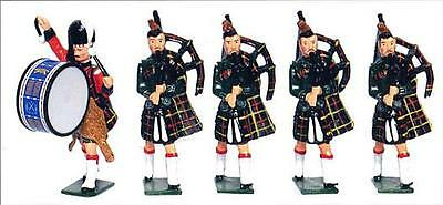Britains 41002 - Cameron Highlanders Band Set 2 (Hollowcast Collection)