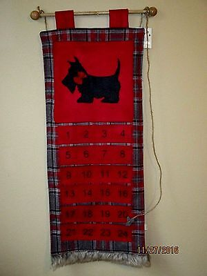 Scottie Christmas Advent Calendar New With Tag Scotty Scottish Terrier