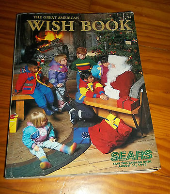 1992 THE GREAT AMERICAN SEARS WISH BOOK toy Christmas catalog Santa cover