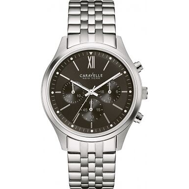 SALE Brand New Caravelle NY Ladies Steel Black Face Chronograph.