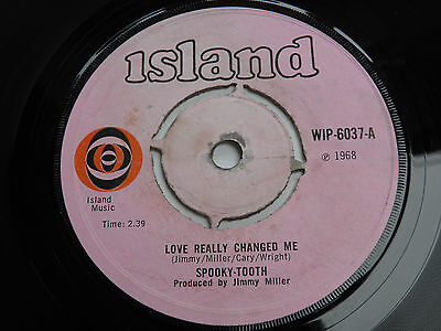 """Spooky Tooth-Love Really Changed-UK Island 7""""-60s Garage Mod Psych-1968-HEAR"""