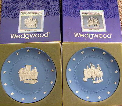 Wedgwood Plates, Victory at Yorktown & Declaration of Independence