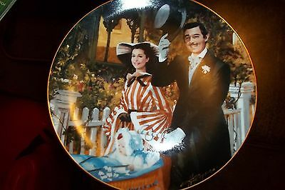 Gone With The Wind Collectible Plate,1989,strolling In Atlanta,#6503A