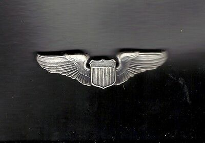 US Air Force Pilot Wings Badge USAF GENUINE full size with silver finish