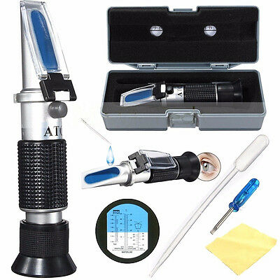 Top ATC Glycol Refractometer Car Antifreeze Battery Acid Engine Coolant Tester