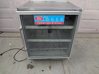Silver King Under Counter Glass Door Freezer.  Ice Cream Merchandiser.