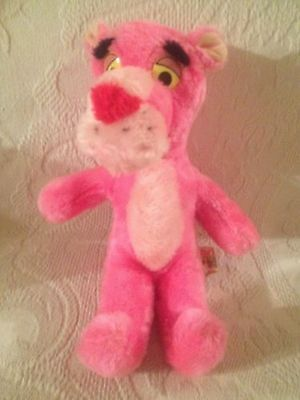 "Pink Panther Vintage 12"" Plush Stuffed Toy Mighty Star"