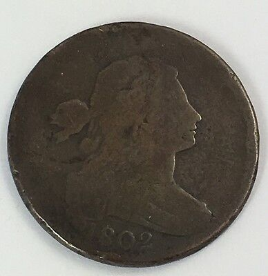 1802 US Large Cent 1c AG+ Strong Date and Details for Grade! - ORIGINAL!