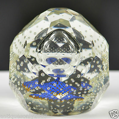 CAITHNESS SPACE CRYSTAL Glass Paperweight WILLIAM MANSON LIMITED 50 Units Made