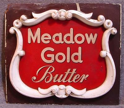 Vintage Meadow Gold Butter Advertising Display Sign