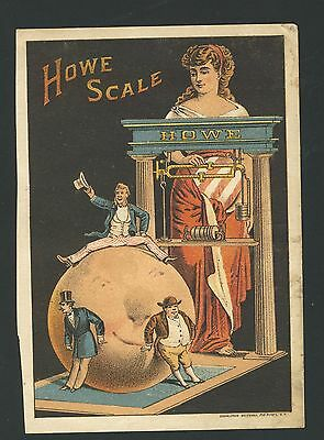 Old Vintage Antique Victorian Trade Card Howe Scale
