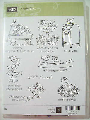 Stampin' Up For the Birds Stamp Set  - Never Used