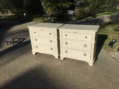 Drexel Heritage Nightstand Chelsea Cottage White Tables MSRP $1500 Set of 2